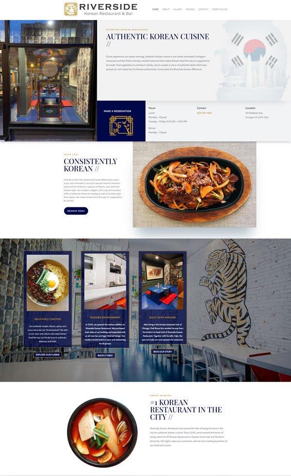 Riverside Korean Restaurant & Bar's New website